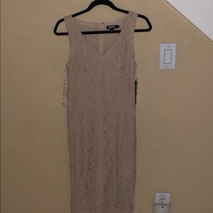Nude lace pattern DKNY dress